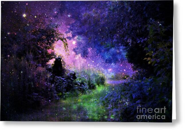 Fantasy Path Greeting Card by Johari Smith