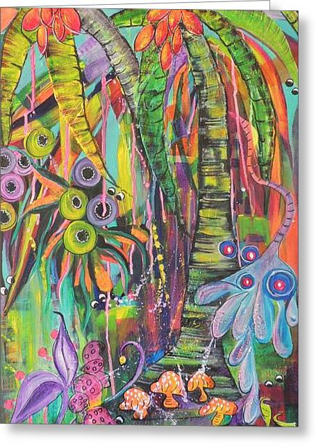 Fantasy Rainforest Greeting Card
