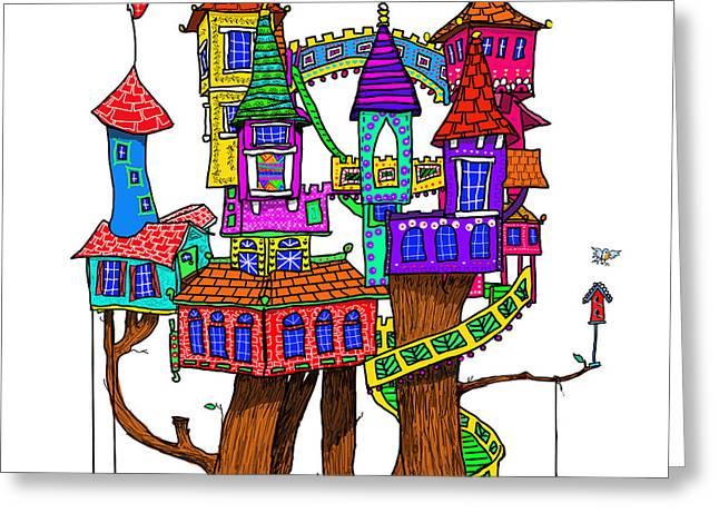 Fantasy Treehouse Greeting Card