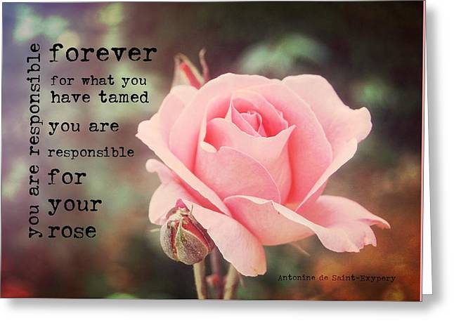 Fantin-latour Roses Quote Greeting Card by JAMART Photography