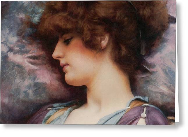 Far Away Thoughts Greeting Card by John William Godward