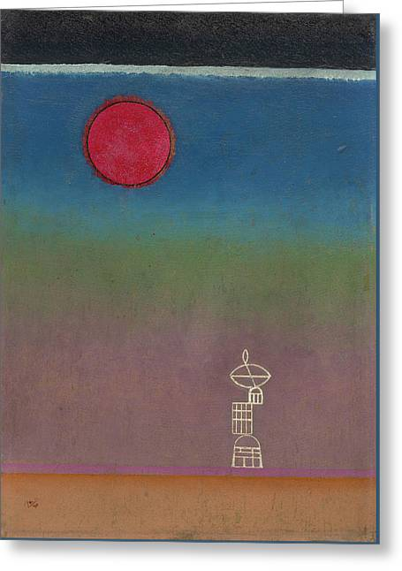 Far Away Greeting Card by Wassily Kandinsky