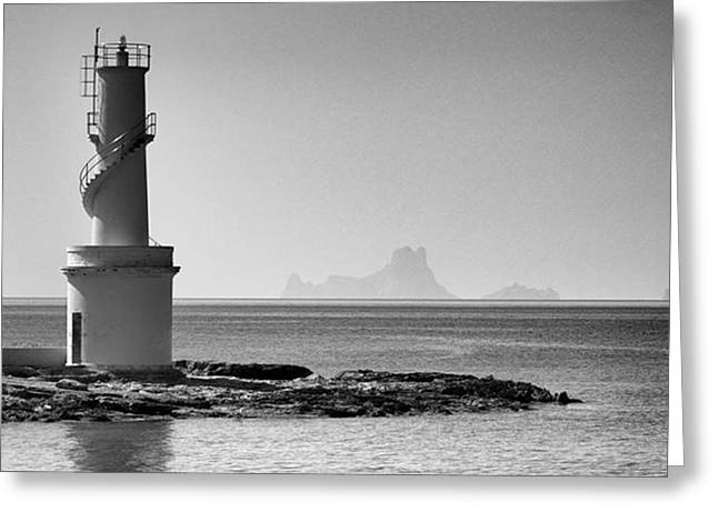 Far De La Savina Lighthouse, Formentera Greeting Card
