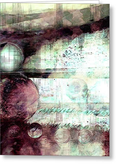 Dream Scape Digital Greeting Cards - Far Dreaming Greeting Card by Linda Sannuti