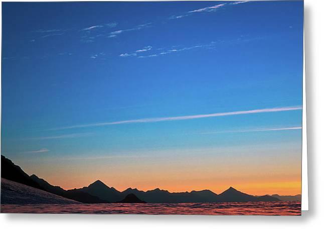 Far Mountains Greeting Card by Konstantin Dikovsky