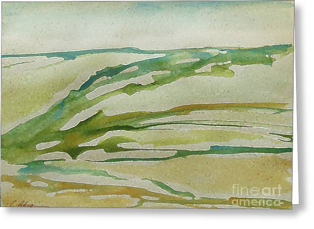 Far Off Distant Sea And The Land I Love 2015. Part 1.  Greeting Card by Cathy Peterson