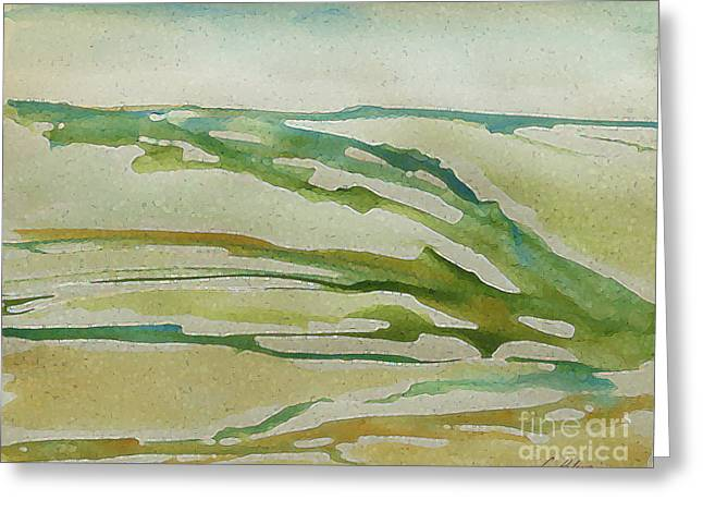 Far Off Distant Sea And The Land I Love 2015. Part 2. Greeting Card by Cathy Peterson