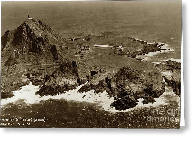 Farallon Island Lighthouse Pacific Ocean April 4, 1924 Greeting Card