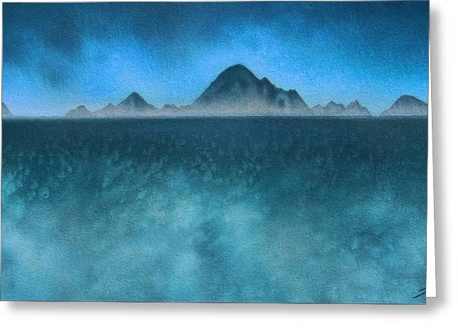 Farallon Islands II Or The Misty Isle Greeting Card by Robin Street-Morris
