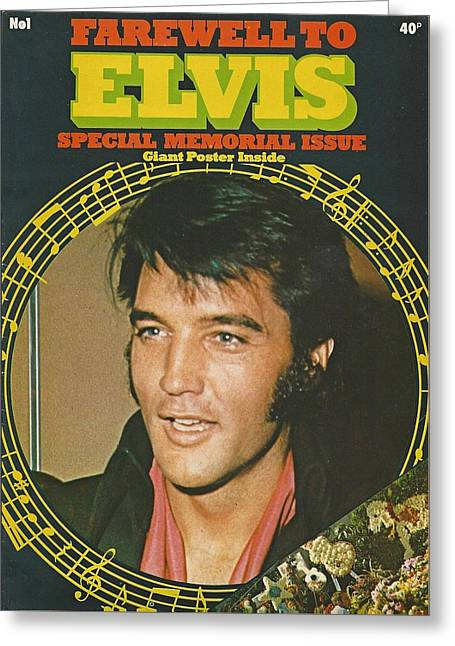 Farewell To Elvis Greeting Card by Pd