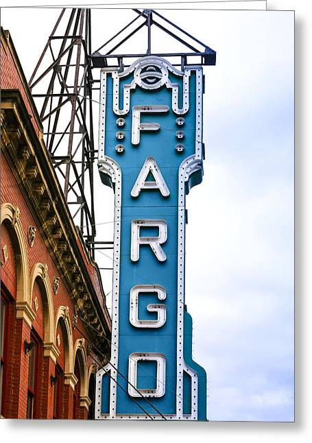Fargo Blue Theater Sign Greeting Card