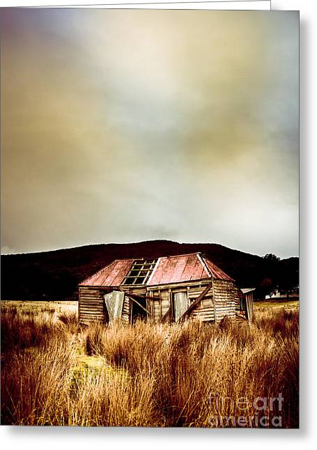 Fargone Farmhouse Greeting Card by Jorgo Photography - Wall Art Gallery