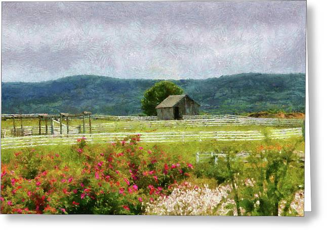 Farm - Barn - Out in the country  Greeting Card by Mike Savad