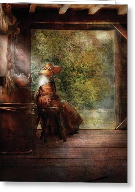Farm - Farmer - Mother Greeting Card by Mike Savad