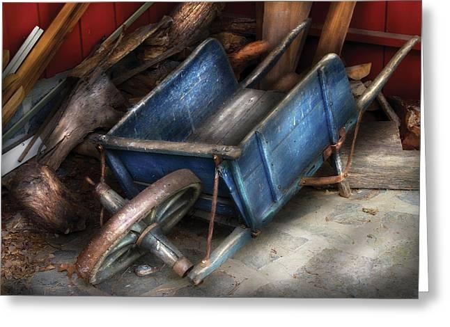 Farm - Tool - One Used Wheelbarrow Greeting Card