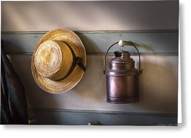 Farm - Tool - The Coat Rack Greeting Card by Mike Savad