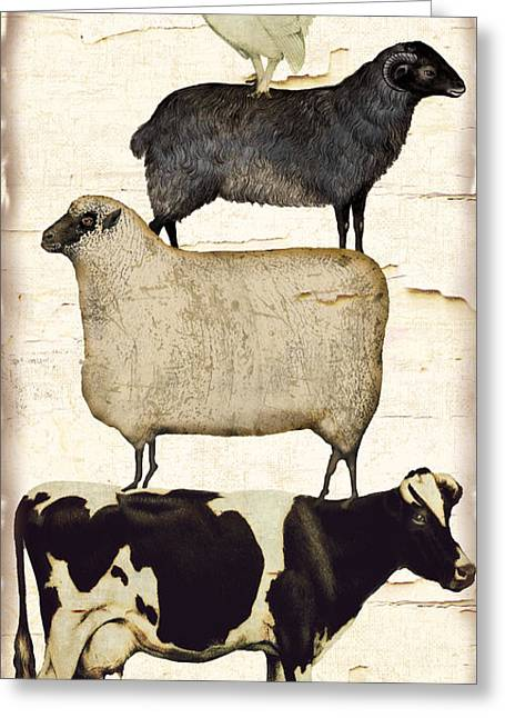 Farm Animals Pileup Greeting Card