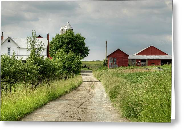 Farm Greeting Card by Ann Bridges