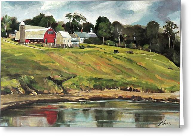 Farm At Four Corners Greeting Card