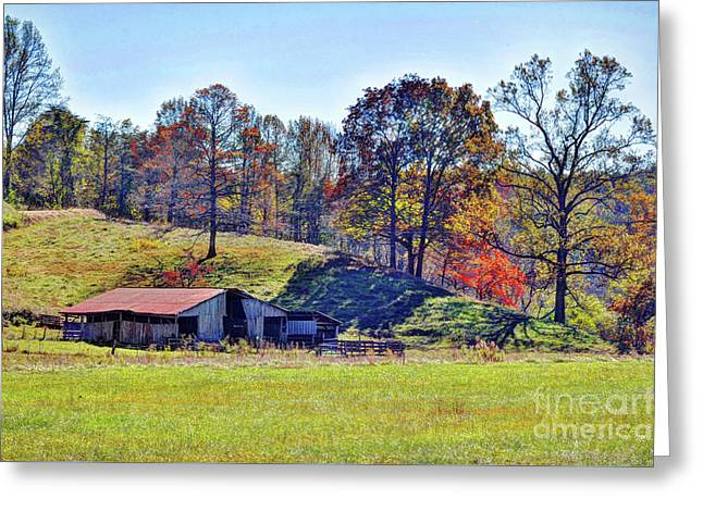 Farm Country Autumn Greeting Card by Savannah Gibbs