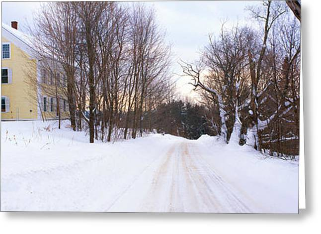 Farm Covered In Snow, Darling Hill Greeting Card
