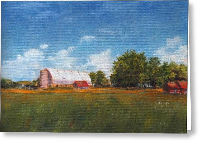 Greeting Card featuring the painting Farm by Diane Daigle