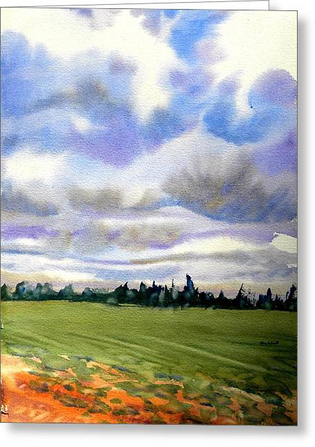 Farm  Field P.e.i. Greeting Card by Patricia Bigelow