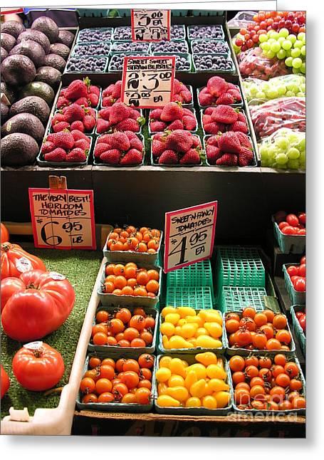Farm Fresh Greeting Card by Diane Greco-Lesser