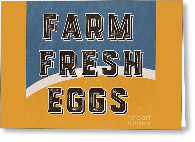 Farm Fresh Eggs Retro Vintage Sign Greeting Card