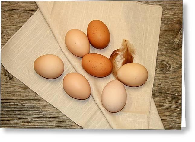Farm Fresh Eggs Greeting Card