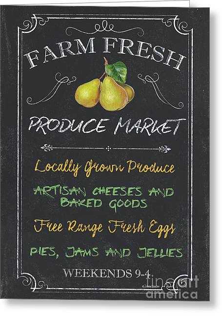 Farm Fresh Produce Greeting Card