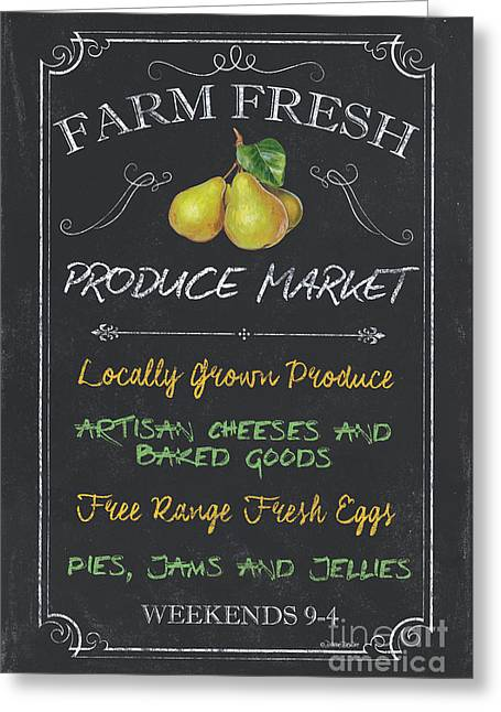 Farm Fresh Produce Greeting Card by Debbie DeWitt
