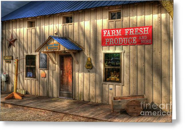 Farm Fresh Produce Greeting Card by Mel Steinhauer