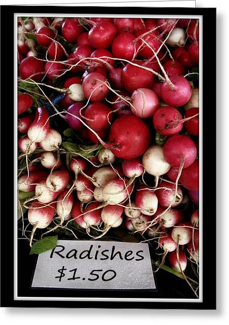 Farm Fresh Radishes Greeting Card by Chris Berry