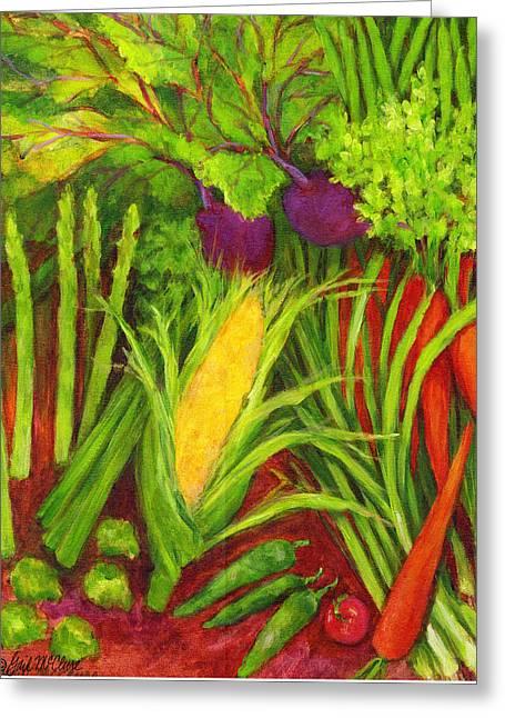 Farm Fresh Veggies 2 Greeting Card by Gail McClure