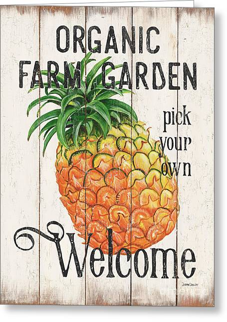 Farm Garden 1 Greeting Card by Debbie DeWitt