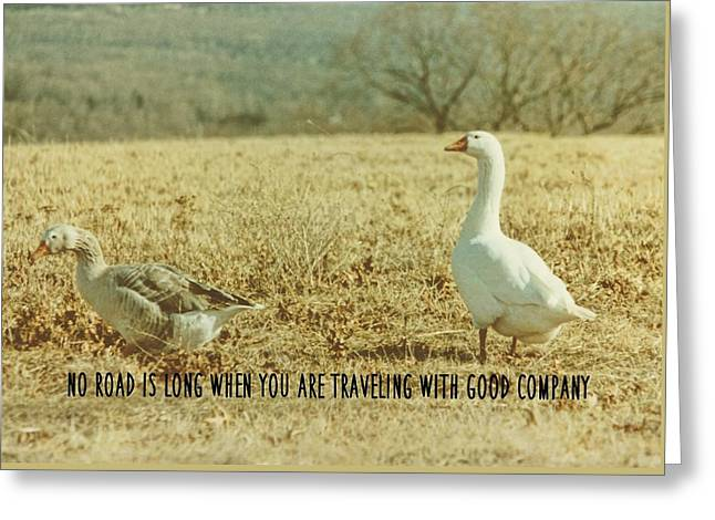 Farm Geese Quote Greeting Card by JAMART Photography
