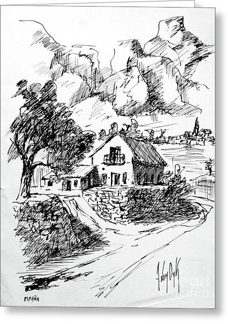 Farm House In Spain Greeting Card