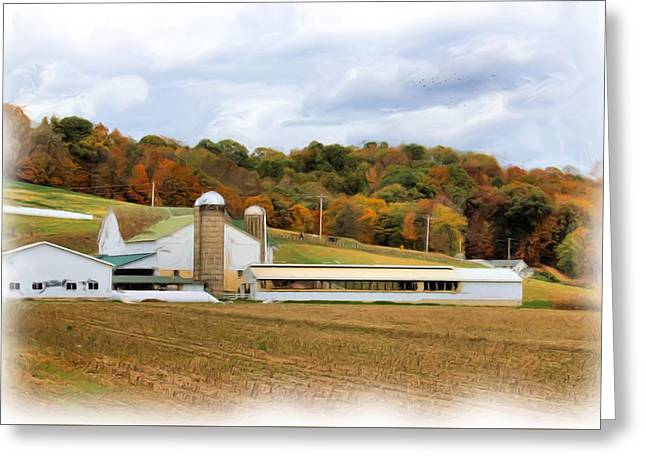 Farm In Amish Country Greeting Card