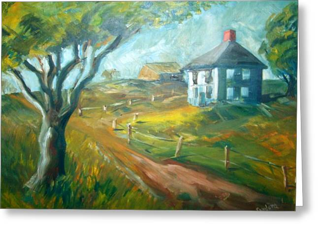 Farm In Gorham Greeting Card by Joseph Sandora Jr