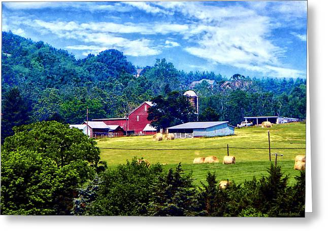 Farm In The Distance Greeting Card by Susan Savad