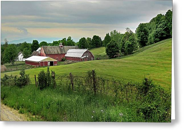 Farm In West Newbury Vermont Greeting Card