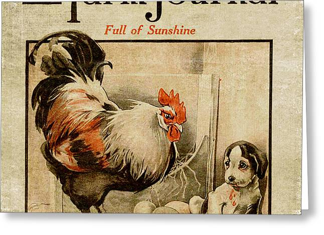 Farm Journal 1921 Greeting Card by Bonnie Bruno
