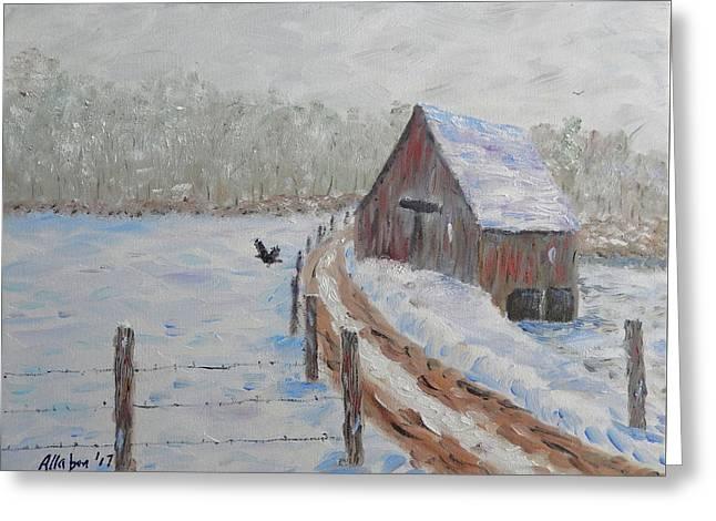 Farm Land Greeting Card by Stanton Allaben