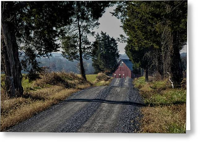 Greeting Card featuring the photograph Farm Lane by Robert Geary