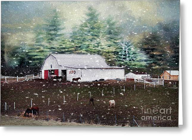 Greeting Card featuring the photograph Farm Life by Darren Fisher