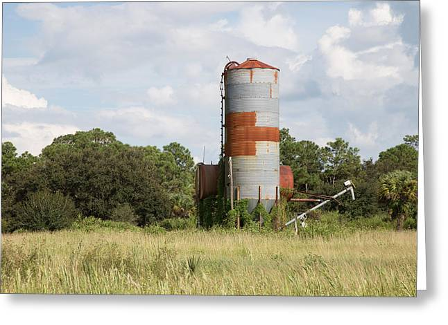 Farm Life - Retired Silo Greeting Card