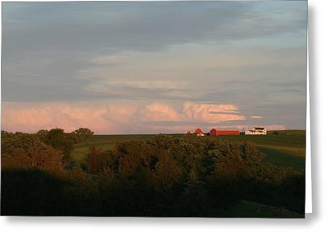 Farm Greeting Card by Linda Ostby