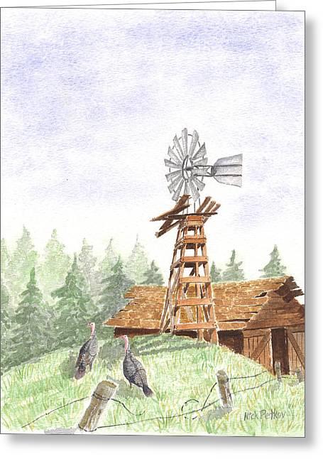 Farm Greeting Card by Nick Petkov