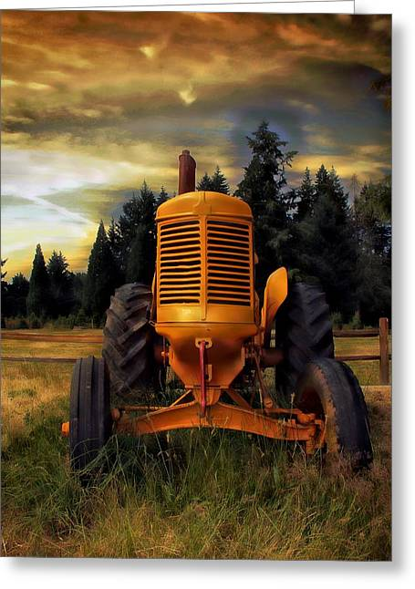 Greeting Card featuring the photograph Farm On by Aaron Berg